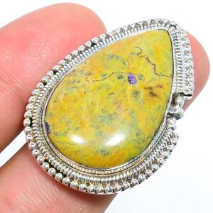 Atlantisite Stichite Gemstone Handmade 925 Sterling Silver Jewelry Ring s.9 S937