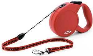 Leash Retractable Flexi Classic Long 1 Small Rope Red 23ft 26.5lbs Max
