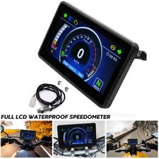 Full LCD Instrument Tachometer Motorcycle Speedometer Mileage Display Waterproof