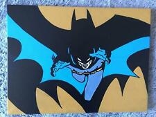 Canvas Painting, 60's, vintage, Batman, hand painted,  16x12 inch Acrylic