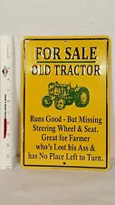 For Sale Old Tractor metal sign
