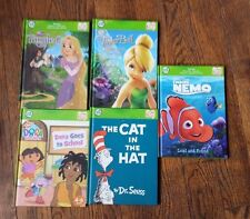 Lot of 5 Leap Frog Tag Books Disney Dora Nemo Tinker Bell Dr. Suess Tangled
