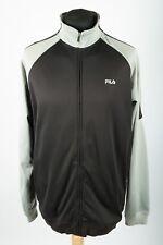 VGC Vintage FILA Black/Grey Track Jacket | Mens XL | 90s Nineties Tracksuit