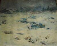 Russian Ukrainian Soviet Oil Painting military ww2 tank realism hard winter 1941