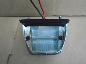 Triumph Spitfire License Plate Light Lamp Assembly 1973-80 Works  FREE SHIPPING