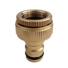 "Brass Garden Tap Hose Pipe Connector Quick Release Hosepipe Hose Lock1/2""3/4"" JC"