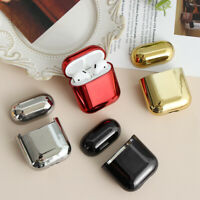 Pouch Protective Skin Case Cover Electroplate PC For Apple AirPods 1 2