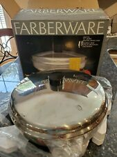 """Lnib Farberware 12"""" Stainless Steel Electric Skillet/Server w/Dome Cover #322"""
