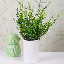 Artificial Fake Plastic Silk Eucalyptus Leaf Plant Flowers Party Room Home Decor