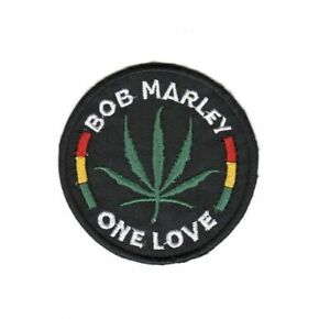 Bob Marley - One Love Embroidered Iron-On or Sew On Patches 7.5cm x 7.5cm