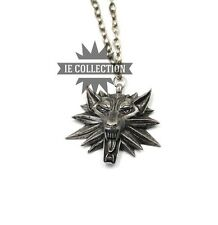 THE WITCHER 3 WILD HUNT COLLANA LUPO Geralt occhi rossi medallion pc xbox wolf 2