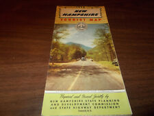1950 New Hampshire State-issued Vintage Road Map