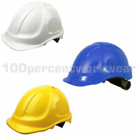 RHINOtec Vented ABS 6 Point Harness Work Safety Helmet Hard Hat Construction PPE