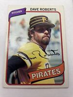 Vintage 1980 Topps MLB Baseball Card #212 Dave Roberts-Pittsburgh Pirates-Ex