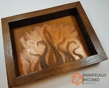 Steampunk Lovecraft Tentacle Handmade Wood Leather Dice Tray Dnd Free Shipping!