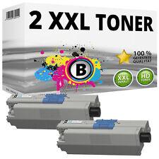 2x XXL TONER SCHWARZ für OKI MC351DN MC352DN MC361DN MC362DN MC561DN MC562DNW