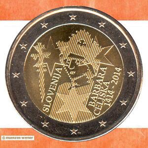 Sondermünzen Slowenien: 2 Euro Münze 2014 Barbara von Cilli (Barbara Celjska)