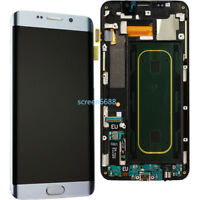 Pantalla LCD Táctil Display+Marco Para Samsung Galaxy S6 Edge+ Plus G928F Plata