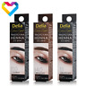 DELIA HENNA Traditional Tint Powder For Eyebrows BLACK BROWN 2g Dye Kit