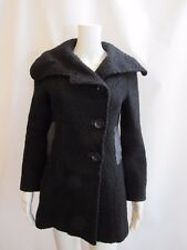 MACKAGE Black Textured Wool Coat Size XS