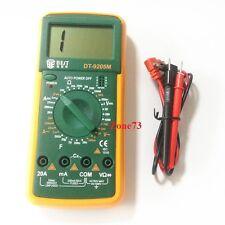 Multimeter DT9205M Digital LCD AC DC Volt AMP OHM Electrical Diode Transistor