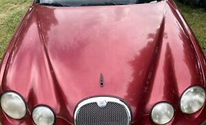 *NO SHIPPING* 00-08 JAGUAR S-TYPE FRONT HOOD RED MAROON OEM