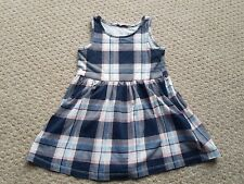 H&M 18-24 month blue pink and white checked sleeveless dress