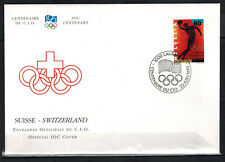 1994 - FDC 1°JOUR - COMITE INTERNATIONAL OLYMPIQUE - CIO - SUISSE-SWITZERLAND
