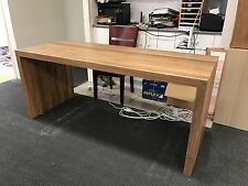 Australian Made Solid Spotted Gum Hardwood Timber Waterfall Desk