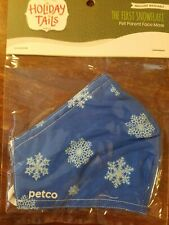 "Cotton Face Mask ""Snowflakes"" Washable Adult Size ""New"" in Package Double Layerd"