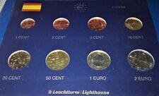 ESPAGNE  2007 : SERIE 8 MONNAIES 1 CENT à 2 € -UNC