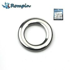 50pcs Heavy Duty Fishing solid ring Seamless Split ring 304 Stainless Steel
