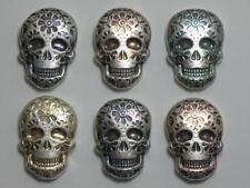 2 oz Silver Day of the Dead Sugar Skull 💀 Monarch Metals MPM - Marigold