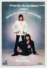 The Moody Blues Justin Hayward John Lodge Poster 1975 Blue Jay Album Promo