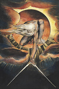 William Blake The Ancient of Days Box Canvas Wall Art Print Various Sizes