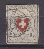 """Schweiz - 1850, MiNr. 6I, gestempelt - 2 1/2 Rp. """"poste locale"""", Befund Marchand"""