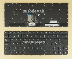 New UK Keyboard For Lenovo yoga 910-13ikb, yoga 5 pro Laptop backlit Black