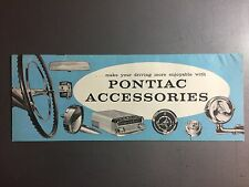 1958 Pontiac Accessories Showroom Advertising Sales Brochure RARE!! Awesome L@@K