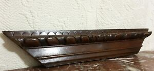 17 th century godron wood carving pediment Antique french architectural salvage