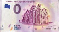 BILLET 0 EURO  LUCENEC - NEOLOGICKA SYNAGOGA SLOVAQUIE 2019  NUMERO DIVERS