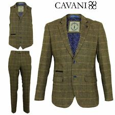 Mens Cavani Wool Tweed 3 Piece Suit Sold Separately Blazer Waistcoat Trousers
