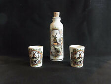 Delft's 3 Piece Decanter Set Polychroom Hand-Painted Made in Holland Delfino