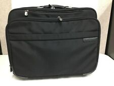 Briggs And Riley Travel Ware Rolling Luggage Bag Black Carry On Size,pilot,Buss.