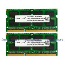 8GB 2X 4GB PC3-12800 16chips DDR3 1600Mhz 204pin Laptop Memory So-DIMM RAM mac