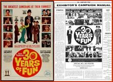 30 Years Of Fun pressbook And Poster, Laurel and Hardy, Charlie Chaplin