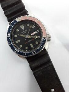 SEIKO 6309 729A Pepsi slim turtle scuba divers watch automatic all original 1985