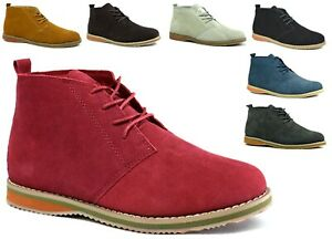 Brand New Men Lace Up Suede Ankle Winter Casual Desert Fashion Boot UK Size 6-11