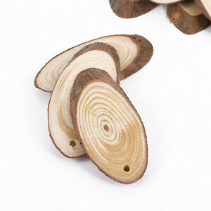 25 Unfinished Wood Slices Pieces Wooden Cutouts Ornaments for Christmas Wedding