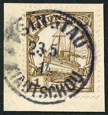 237)KIAU, 10 b TSINGTAU * glasklar auf Nr. 28, Luxus-Briefstück!!