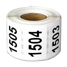 Consecutive Numbers Labels Inventory Control Self Adhesive 1500 to 2000 Stickers